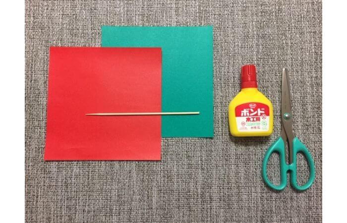 折り紙「立体的なチューリップ」の折り方【材料】