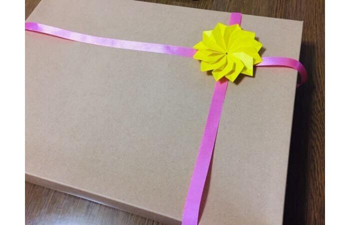 折り紙1枚で作る立体ダリア【活用例2】