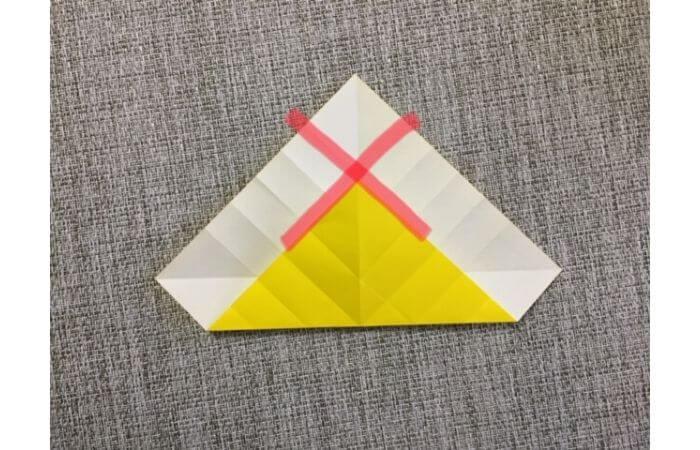 折り紙1枚で作る「立体ダリア」の折り方10