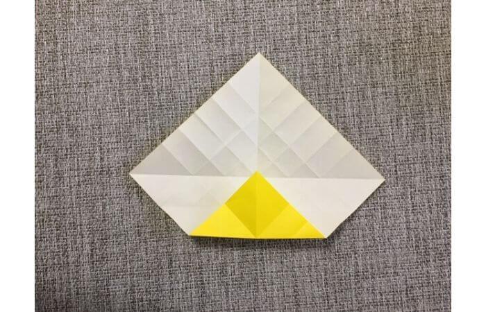 折り紙1枚で作る「立体ダリア」の折り方11