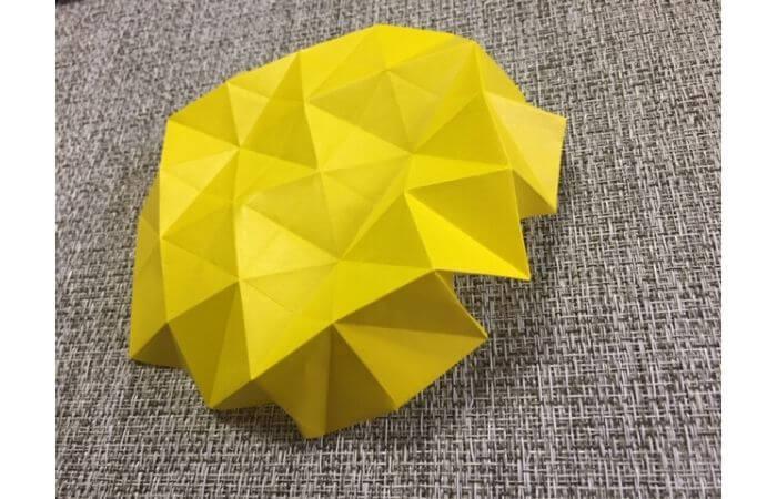 折り紙1枚で作る「立体ダリア」の折り方15