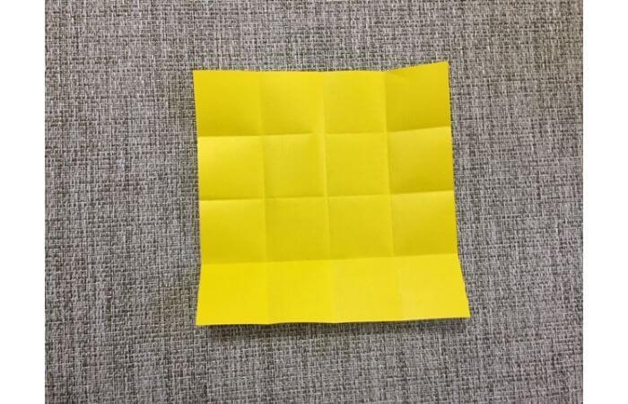 折り紙1枚で作る「立体ダリア」の折り方5