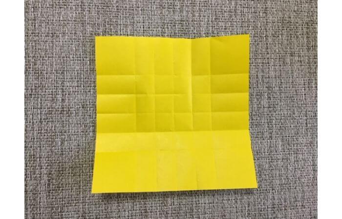 折り紙1枚で作る「立体ダリア」の折り方7