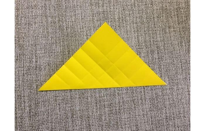 折り紙1枚で作る「立体ダリア」の折り方8