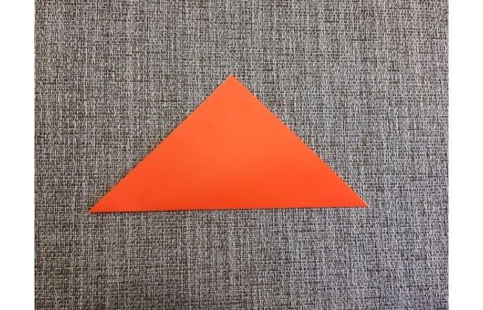折り紙「立体カニ」の作り方1