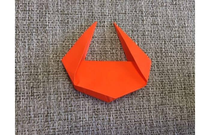 折り紙「立体カニ」の作り方11