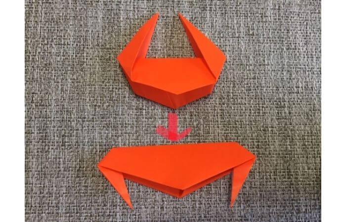 折り紙「立体カニ」の作り方12