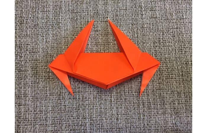折り紙「立体カニ」の作り方13