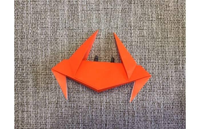 折り紙「立体カニ」の作り方15