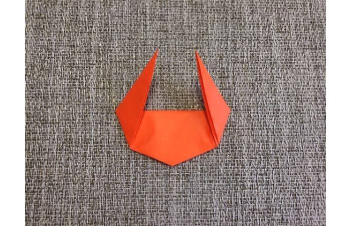 折り紙「立体カニ」の作り方6