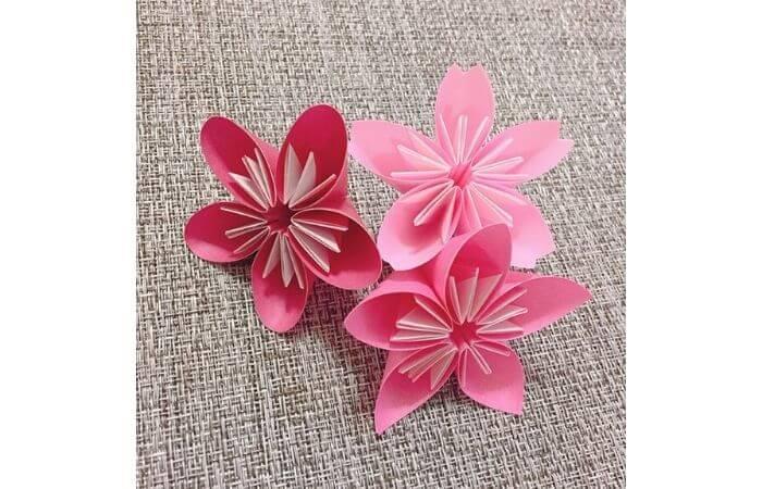 簡単折り紙「桜の花びら・梅の花・桃の花」集合2