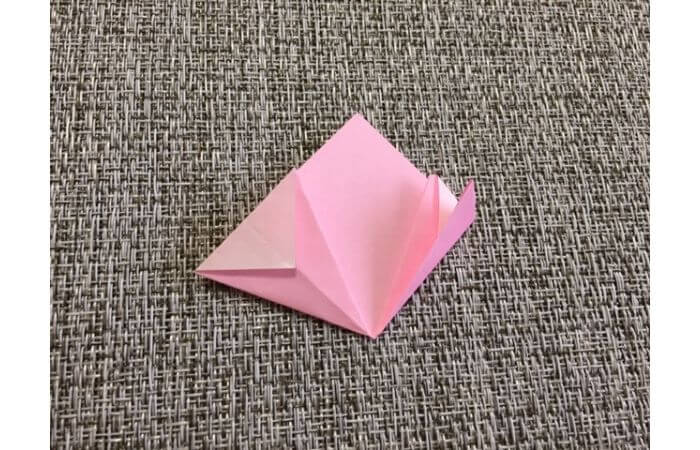 簡単折り紙「桜の花びら」の折り方10