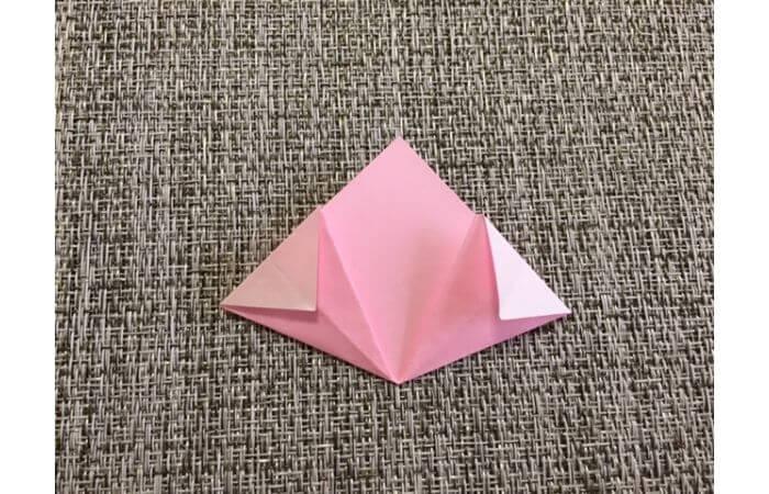 簡単折り紙「桜の花びら」の折り方9