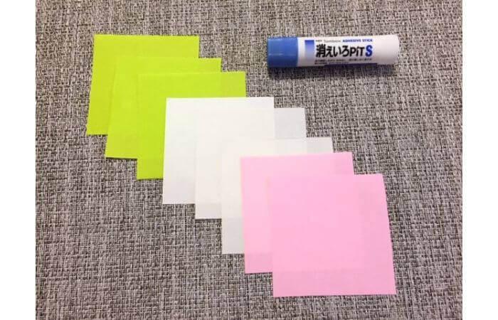 8枚の折り紙で作るリースの折り方【材料】