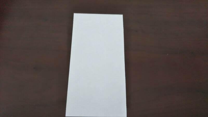 「色鉛筆(鉛筆)」の折り方1