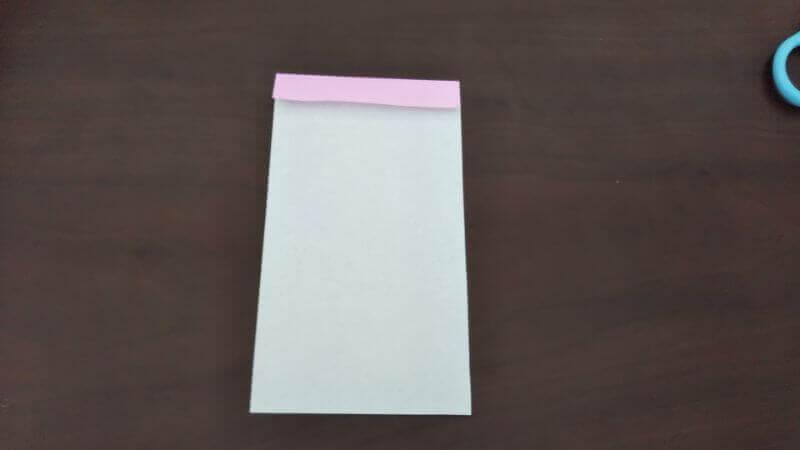 「色鉛筆(鉛筆)」の折り方2