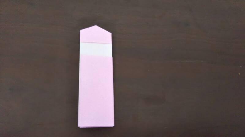 「色鉛筆(鉛筆)」の折り方5