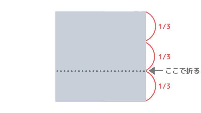 折り紙「カッパ」の折り方【準備1】