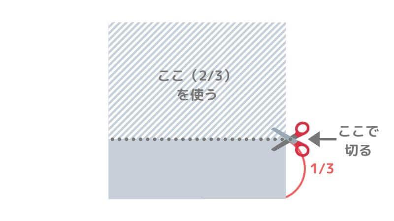 折り紙「カッパ」の折り方【準備2】