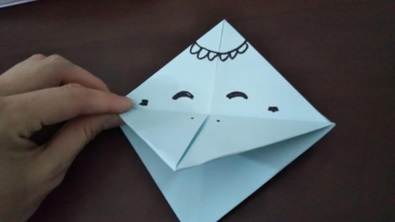 折り紙「カッパ」の折り方7