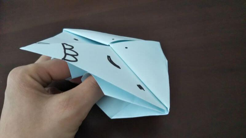 折り紙「カッパ」の折り方8