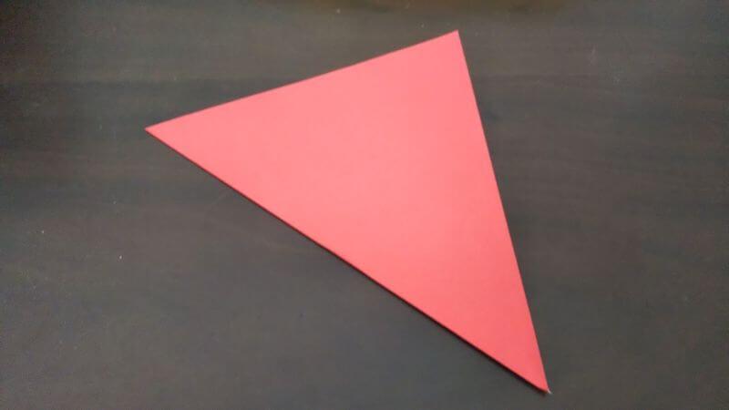 簡単折り紙|かわいい「小鳥」の折り方1