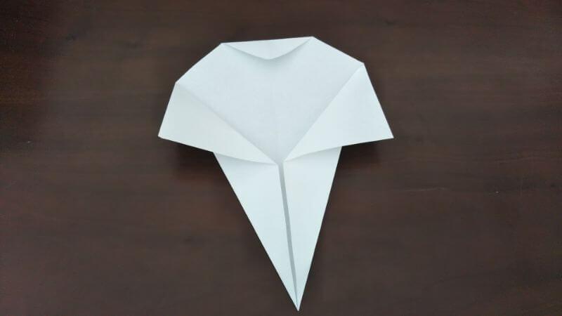 簡単折り紙「かわいいお化け」の折り方4