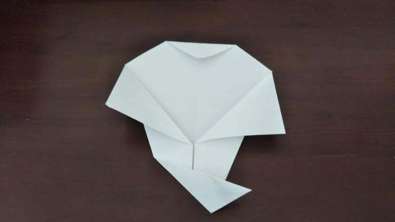 簡単折り紙「かわいいお化け」の折り方5