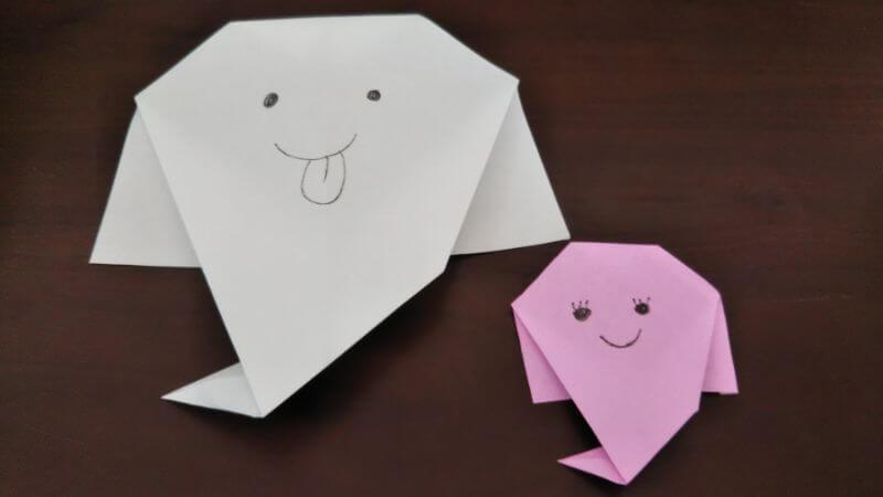 簡単折り紙「かわいいお化け」の折り方7