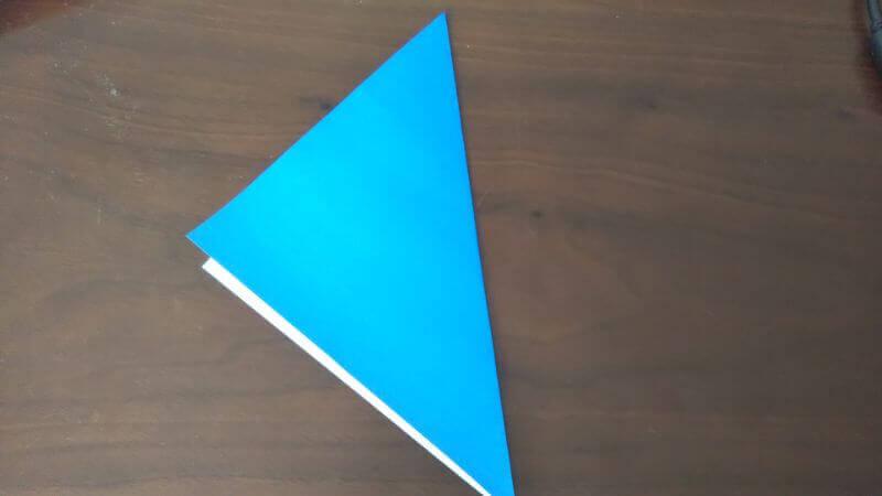 折り紙「魚釣りゲーム」の作り方1