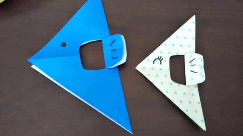 折り紙「魚釣りゲーム」の作り方7