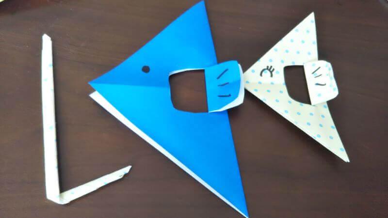 折り紙「魚釣りゲーム」の作り方8