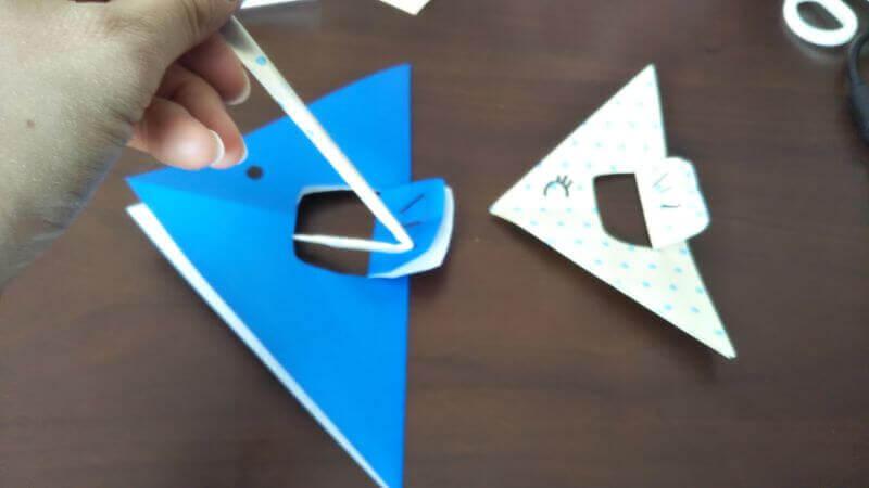 折り紙「魚釣りゲーム」の作り方9