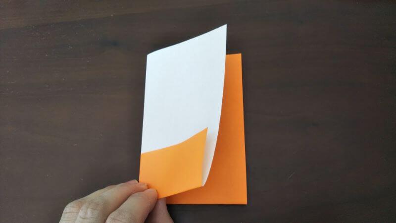 簡単折り紙「トントン相撲(力士)」の作り方2