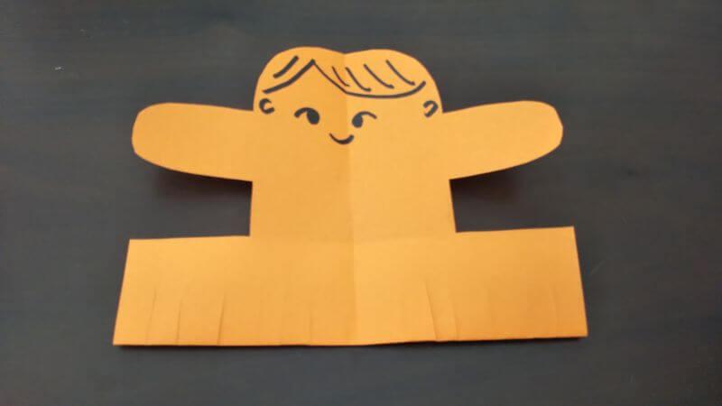 簡単折り紙「トントン相撲(力士)」の作り方5