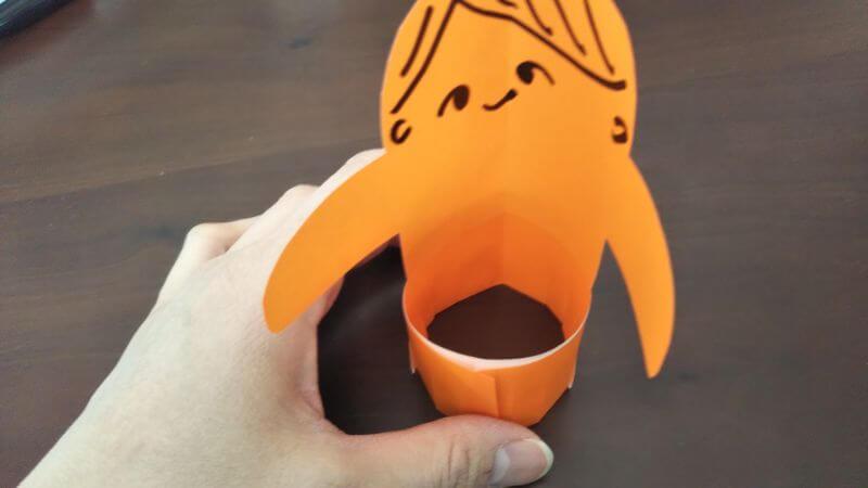簡単折り紙「トントン相撲(力士)」の作り方6
