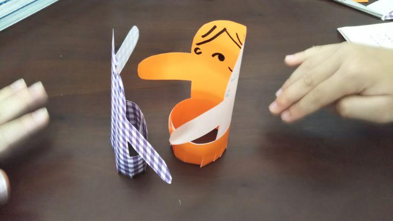 簡単折り紙「トントン相撲(力士)」の作り方7
