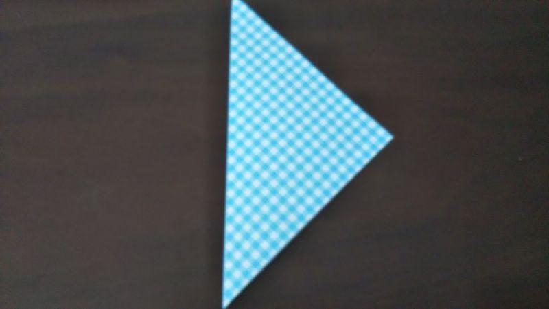 折り紙「指人形×顔だけ動物」の折り方1