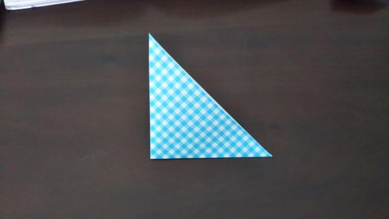 折り紙「指人形×顔だけ動物」の折り方2
