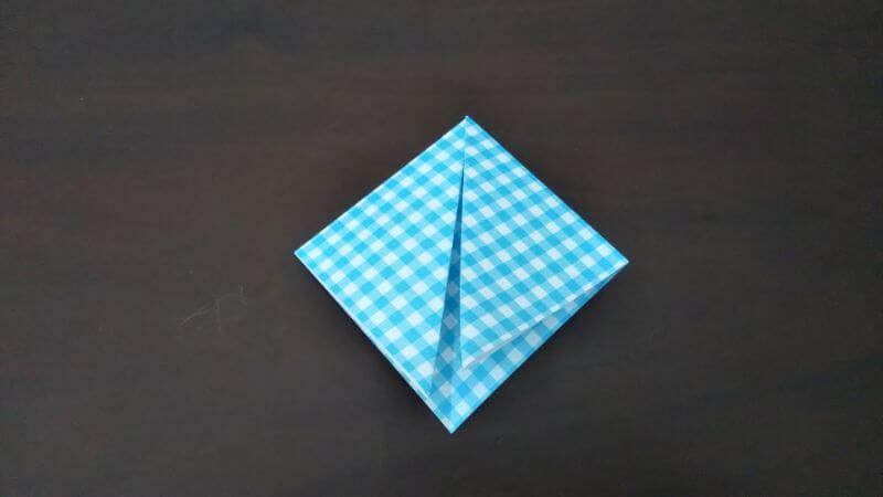 折り紙「指人形×顔だけ動物」の折り方3
