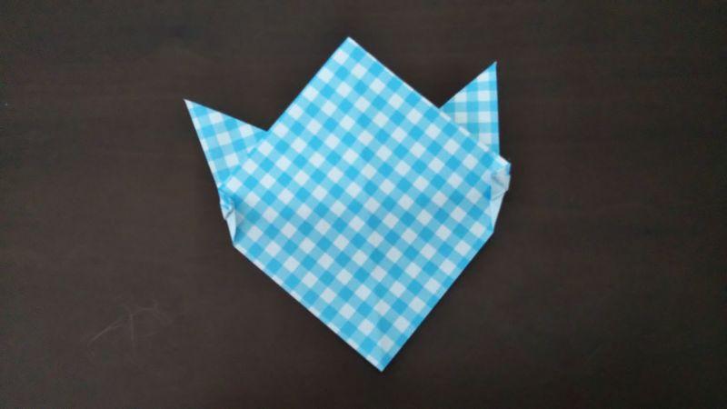 折り紙「指人形×顔だけ動物」の折り方6