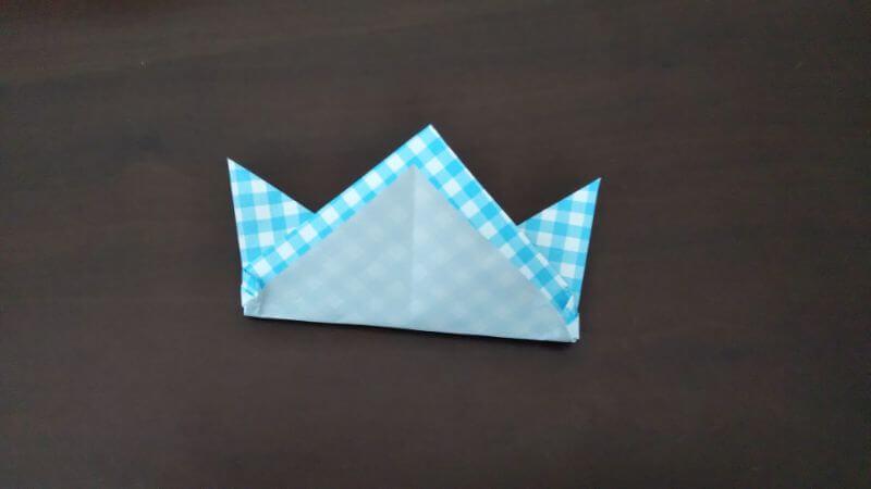 折り紙「指人形×顔だけ動物」の折り方7
