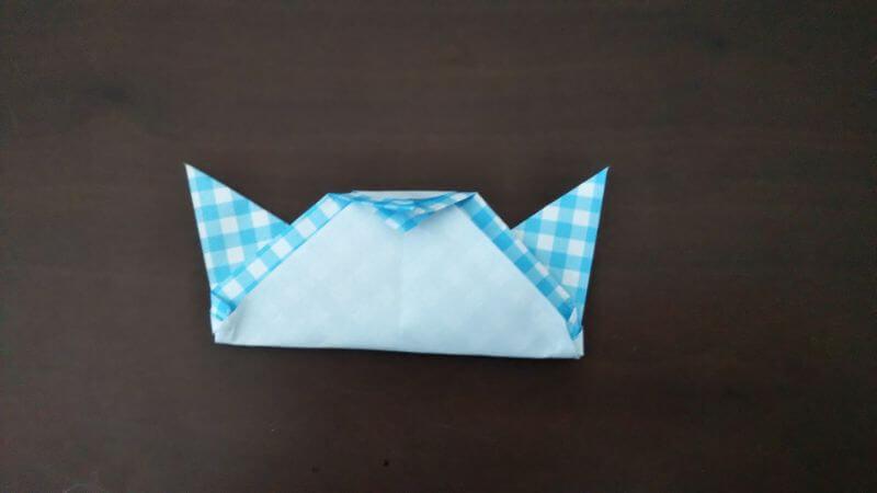 折り紙「指人形×顔だけ動物」の折り方8