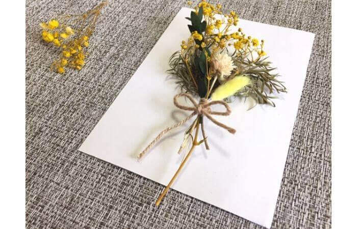 【100均DIY】立体ドライフラワーインテリア〈花束の壁面飾り〉3