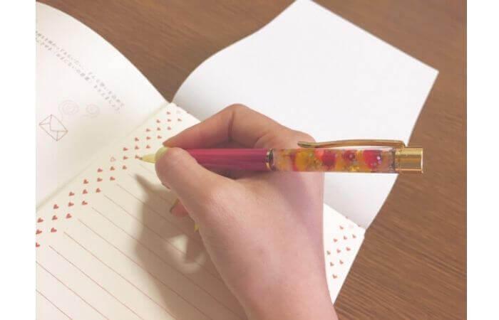 100均セリアで簡単手作り「ハーバリウムボールペンの作り方」使用例