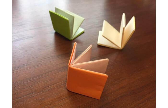 簡単折り紙の本のアレンジ