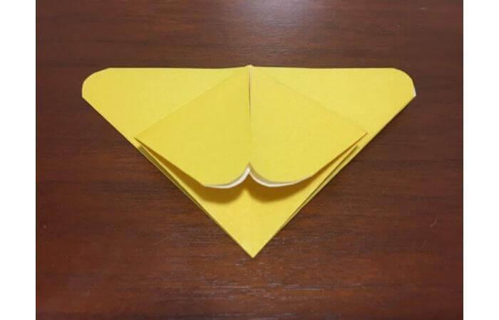 簡単折り紙|立体的な蝶々の折り方11