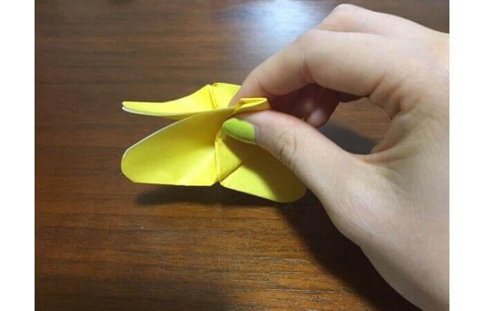 簡単折り紙|立体的な蝶々の折り方15