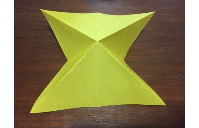 簡単折り紙|立体的な蝶々の折り方5