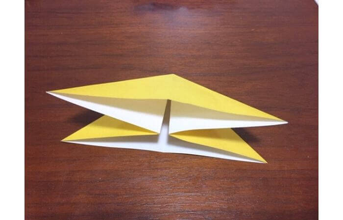 簡単折り紙|立体的な蝶々の折り方6
